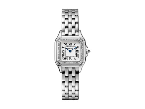 Watch PANTHERE DE CARTIER set with diamonds