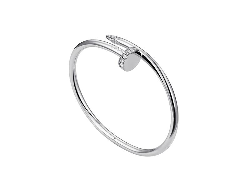 Cartier Juste un Clou bracelet mounted on white gold with diamonds