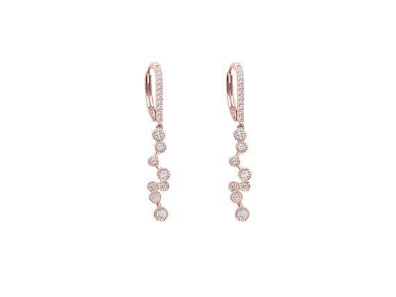 Stone Paris - Love is in the air earrings mounted on rose gold with diamonds