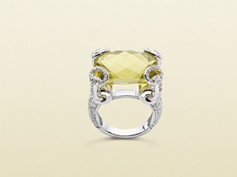 c036ea8ce 4- Gucci : The Horsebit cocktail ring The citrine helps to open the spirit  to
