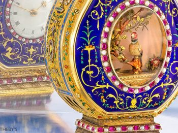 Record sale for Sotheby's who sold a Jaquet Droz antique piece at $2,530,000.-