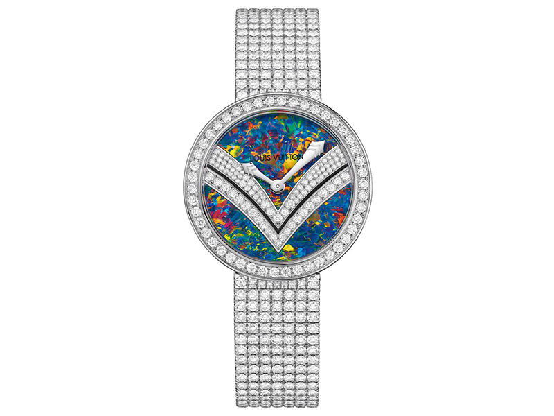 10- Louis Vuitton Escape Acte V collection with black opal and diamonds dial