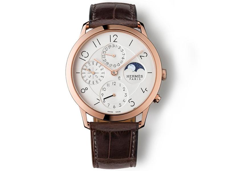 Hermes Slim d'Hermes QP GPHG2015 Calendar Watch Prize