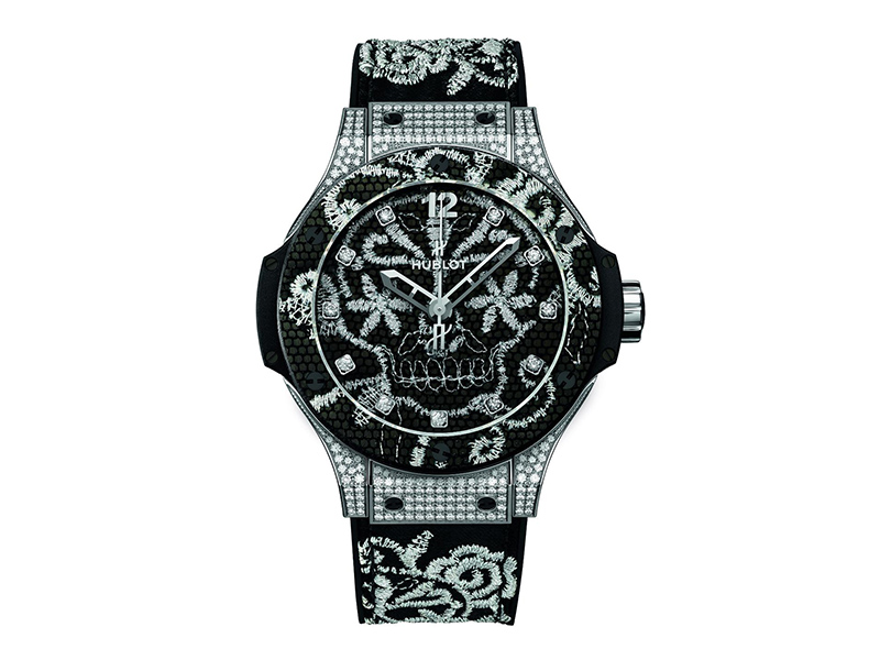 Hublot Big Bang Broderie - 16'500 Euros 41 mm - Self-Winding movement - 42 hours power reserve . Steel case
