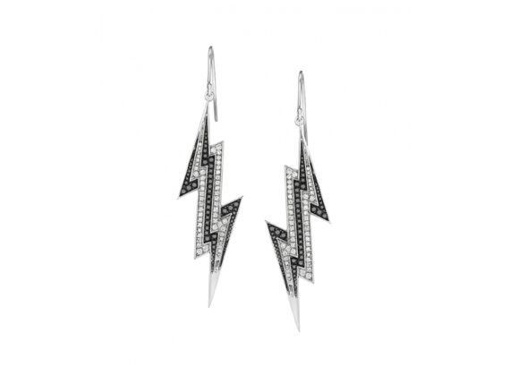 Lynn Ban Pave lightning bolt earrings
