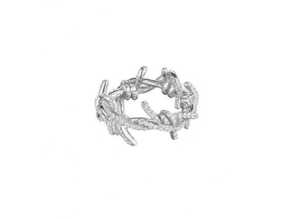 Lynn Ban Pave barbed wire ring