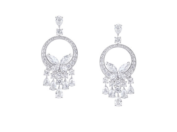 Graff Classic Butterfly earrings set with diamonds