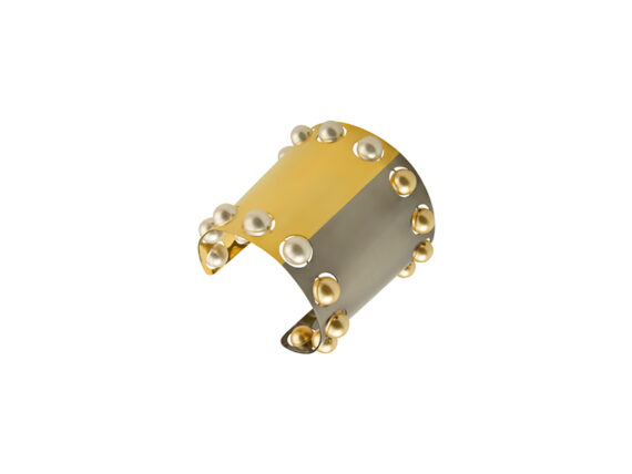 Delfina Delettrez Small roll in stones cuff