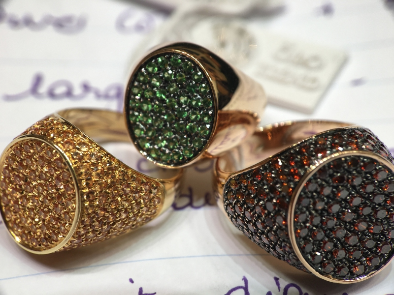 L'originale Chevalier 1980 dimoands rose gold 3 rings