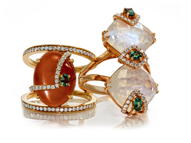 Laura Medine jewelry diamonds gold rings