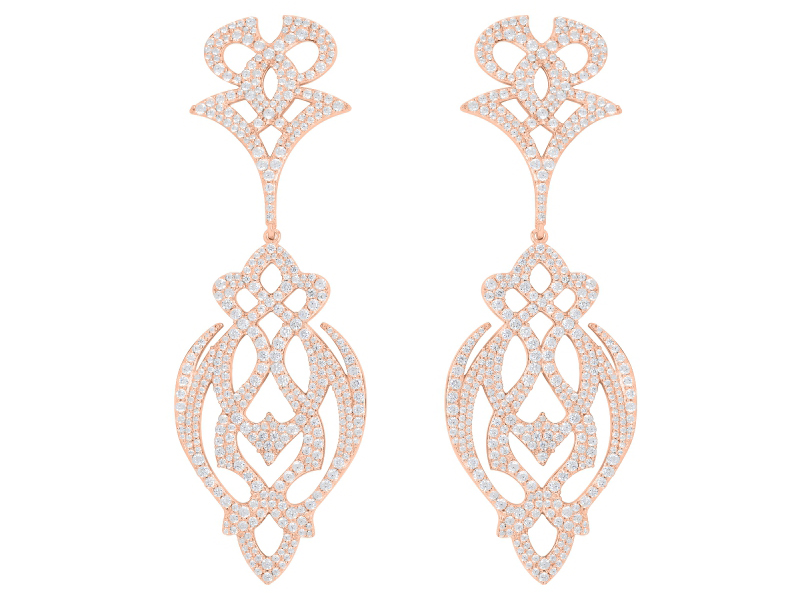 APM Gothika Collection - Earrings Pink gold plated - 280 Euros