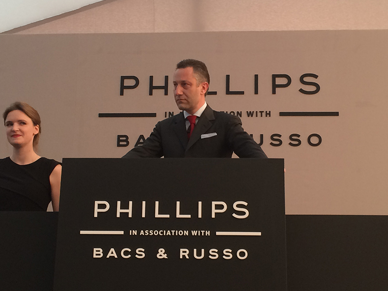 Phillips in association with Aurel Bacs and russo event