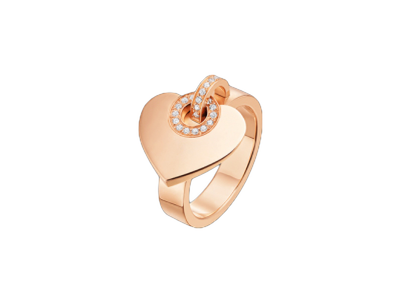 2-Bulgari's Cuore ring in red gold and diamonds with a heart moving like a charm can't go wrong!(~ 3'500 Euros)