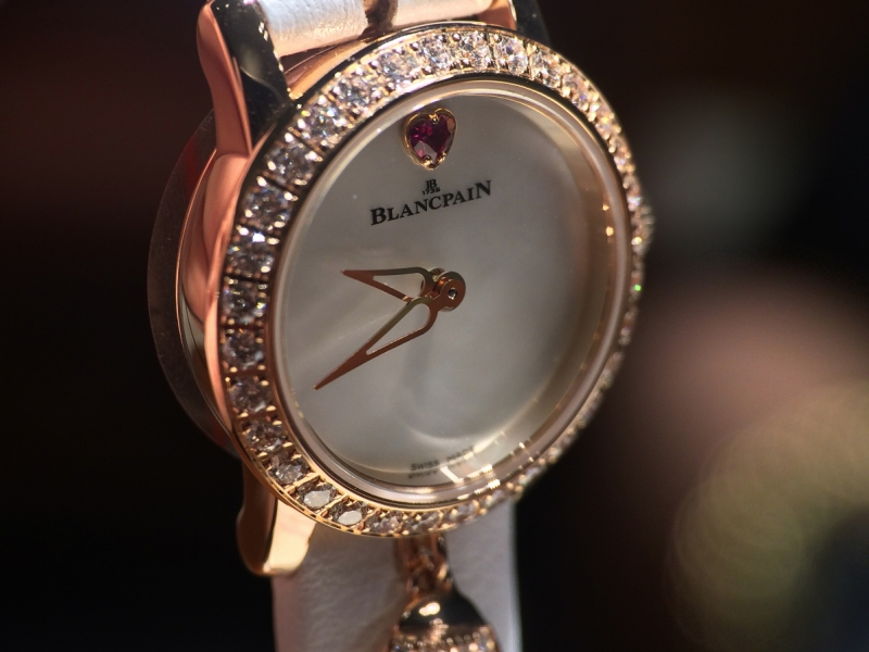1- Blancpain followed the trend and focused on small dials adding charms attached to the case just for the playful side of it.