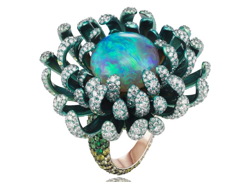 Chopard unveils Fleurs d'Opale green