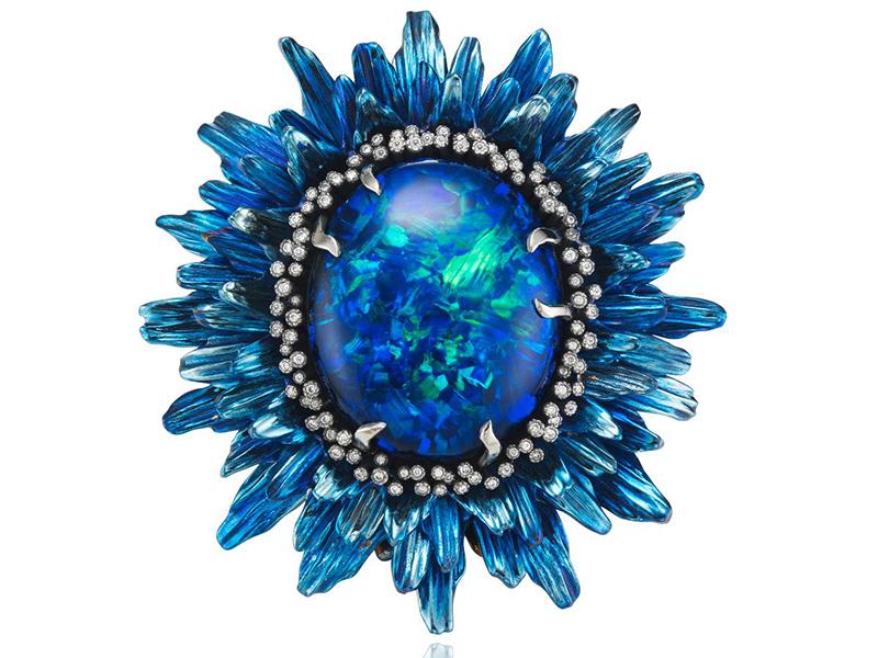 Chopard unveils Fleurs d'Opale blue