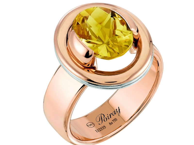 Poiray Poiray Préférence Interchangeable Ring with a citrine as central stone