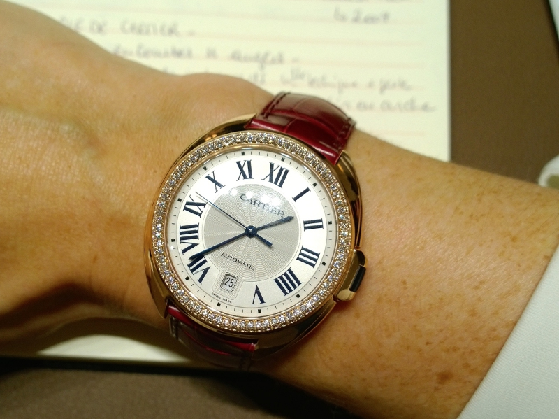 Clé de Cartier watch with diamonds