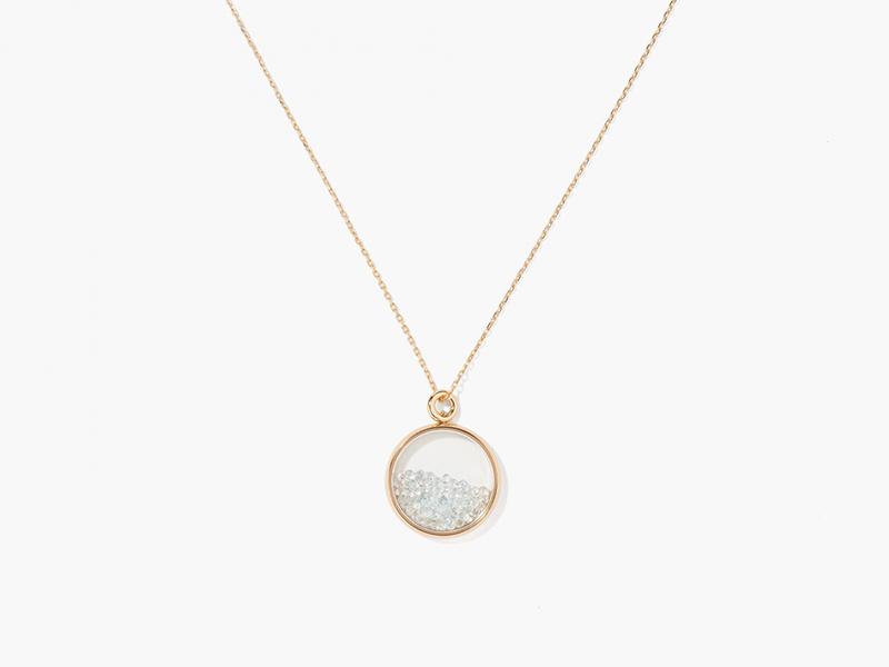 Aurélie Bidermann Topaz baby chivor necklace mounted on yellow gold