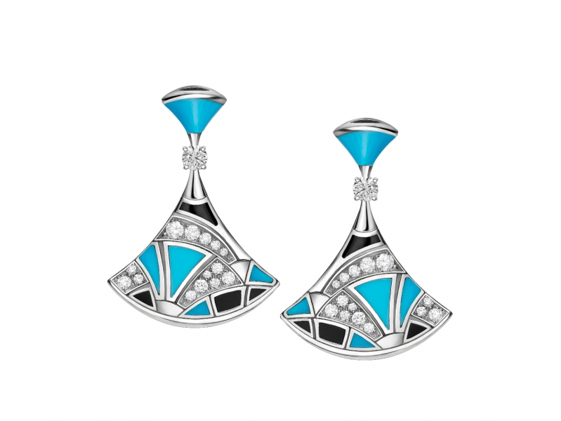 bvlgari divas' dream earrings diamonds white gold
