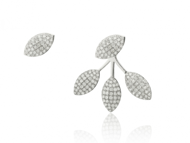 Elise Dray Epis Diamond Asymetrical Earrings
