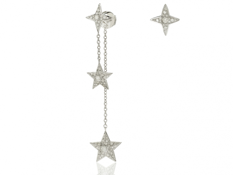 Elise Dray Assymetrical Star Earrings