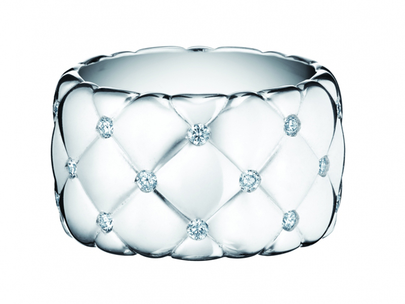 Faberge Treillage Collection - Wide Band on white gold set with 27 diamonds
