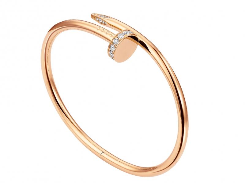 Cartier Juste un Clou bracelet mounted on rose gold with diamonds