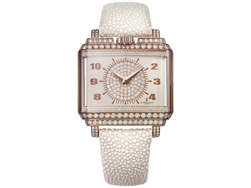 De Grisogono NEW RETRO W S01 Watch diamonds