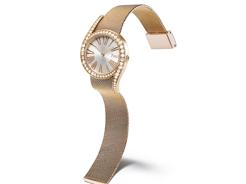 LIMELIGHT GALA WATCH piaget rose gold case brilliant-cut diamonds milanese bracelet