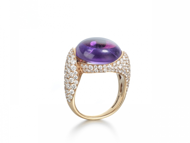 Mark Soley Florentina ring with central amethyst
