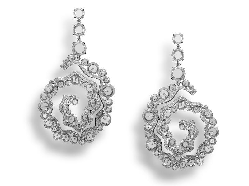 Diamond Sea Nymph Earrings Michelle Ong