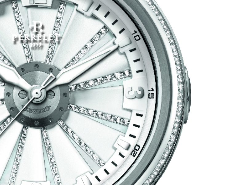 Perrelet XS Turbine in diamonds watch