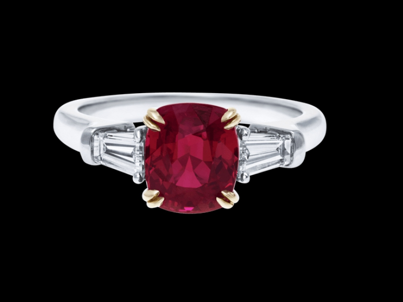 Classic Winston™, Cushion-Cut Ruby Ring Harry Winston engagement ring