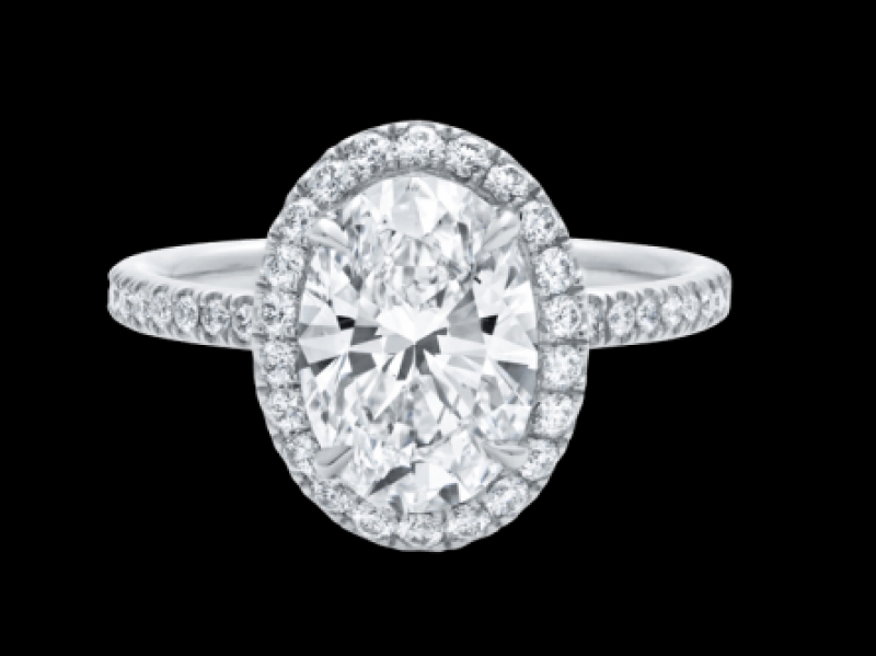 The One, Oval-Shaped Diamond Micropavé Engagement Ring Harry Winston