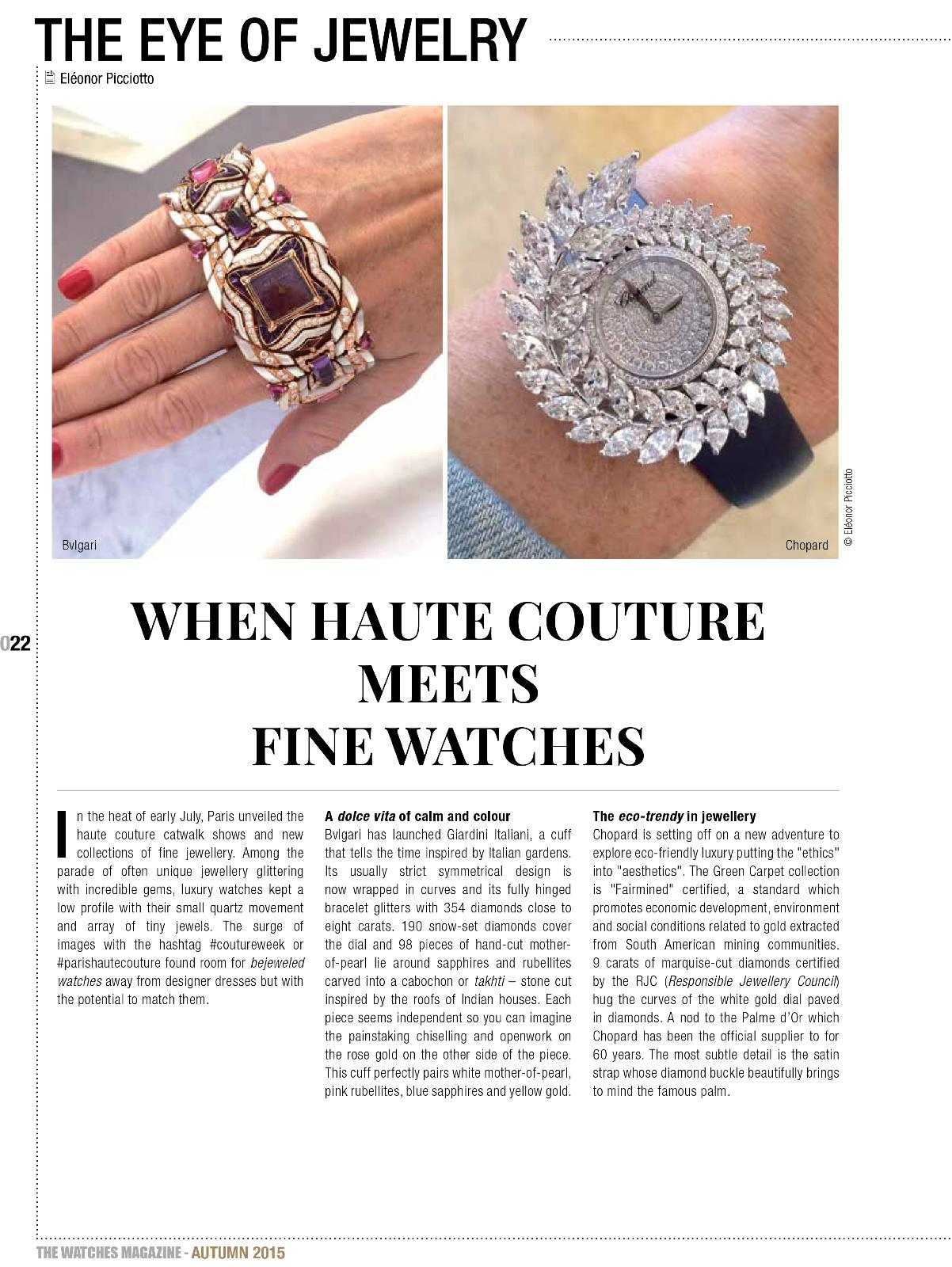 The Watches Magazine 42 the eye of jewelry