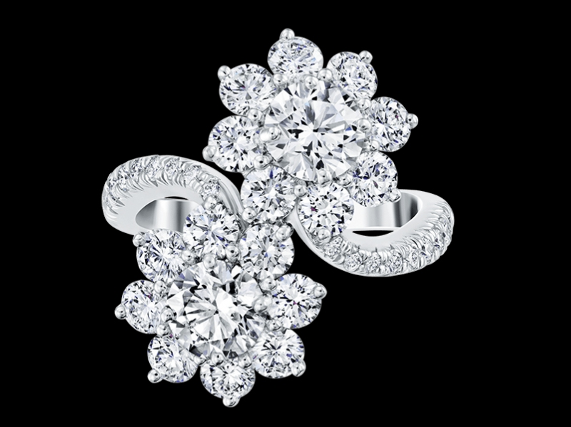 Sunflower by Harry Winston, Diamond Twin Ring