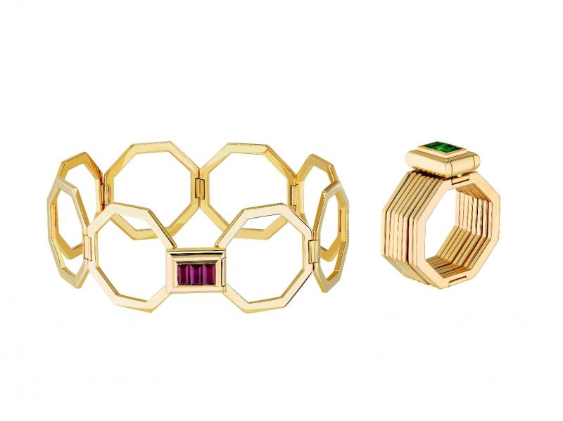 Poiray Bague Bracelet with Rubies ~17'900 Euros