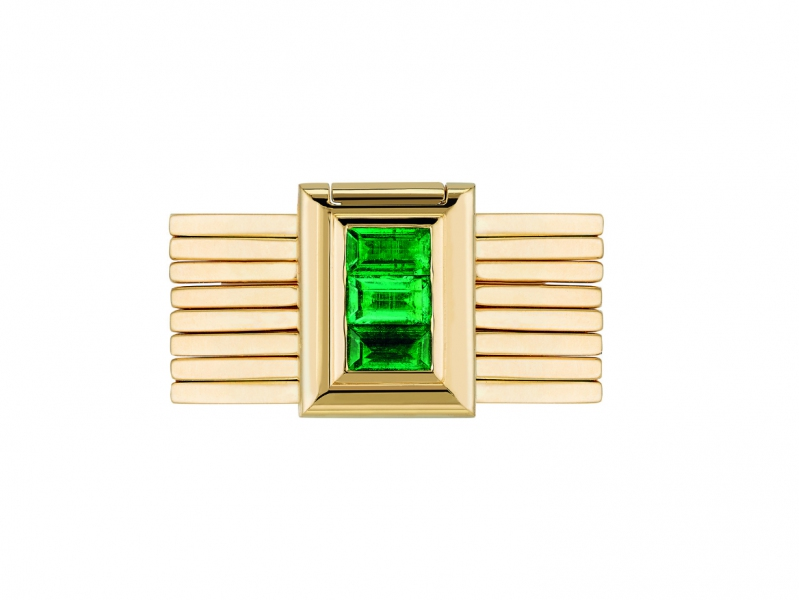 Poiray Bague Bracelet with emeralds ~17'900 Euros