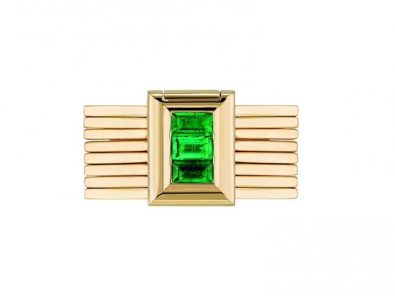 Poiray Bague Bracelet with emeralds ~17'900 Euros