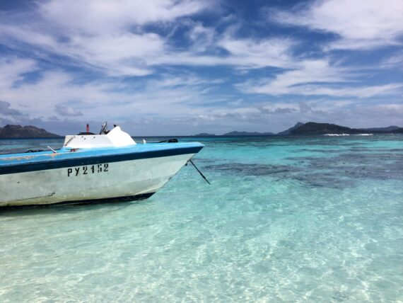 Boat in French Polynesia