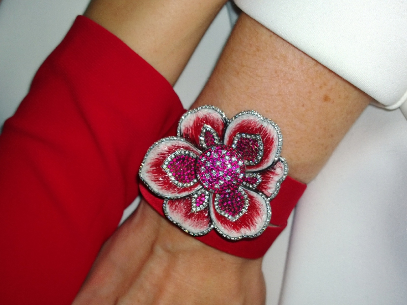 The Ruby Gardenia by Sicis jewelry watch