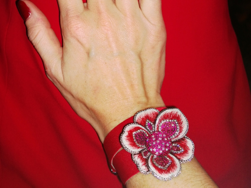 The Ruby Gardenia by Sicis flower watch