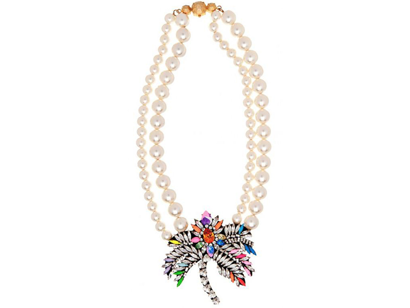 Shourouk Crystal Necklace Palm Pearl ~ 315 Euros