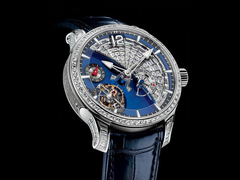 Greubel Forsey The 24 Seconds Contemporain Tourbillon diamond paved with 9.71 carats of baguettes, the third piece ever made based on the the existing 24 second tourbillon.