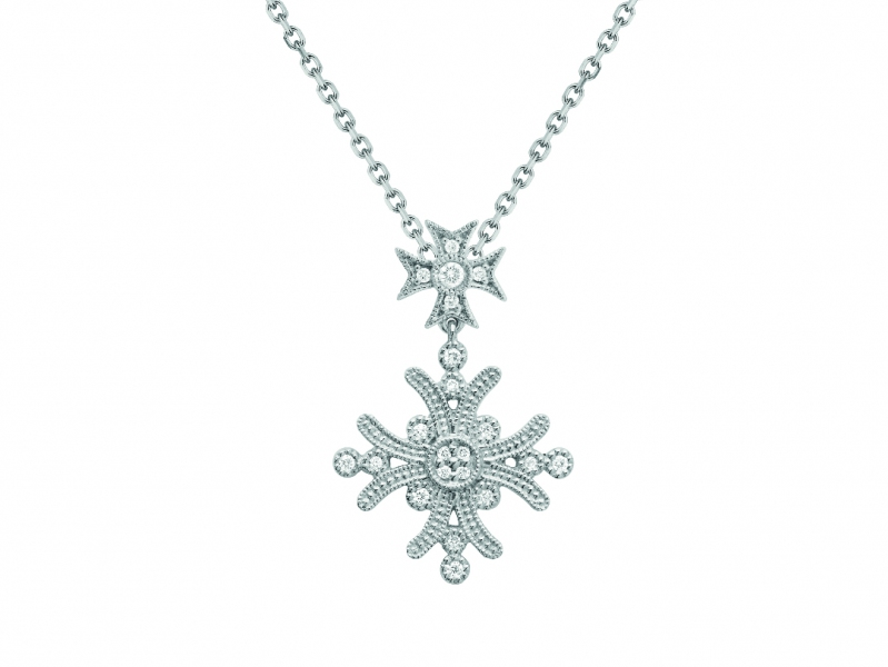 Stone Paris Yesterday Collection - Diamond and white gold necklace
