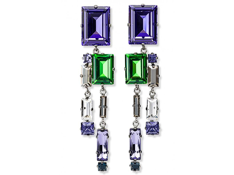 Swarovski Manhattan Crystal Earrings imagined by Philippe Ferrandis ~ 295 Euros
