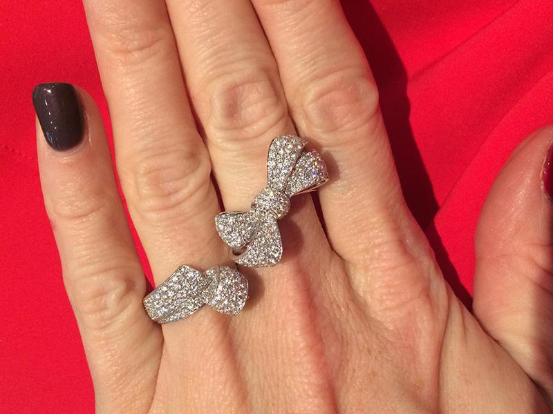 Garrard Bow ring diamonds