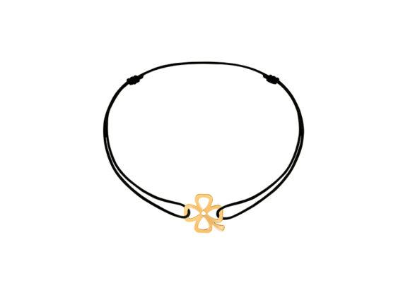 Dinh Van Bubbles clover cord bracelet yellow gold