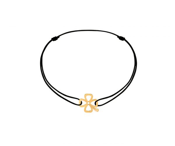 theeyeofjewelry_dinh van_Bubbles clover cord bracelet yellow gold